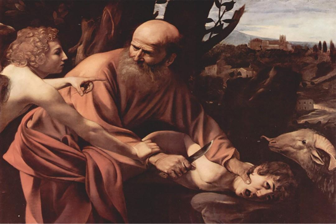 Caravaggio (1571 - 1610): Das Opfer Isaak 1603