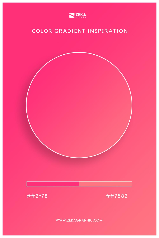 02 Radical Red Brink Pink Color Gradient Inspiration