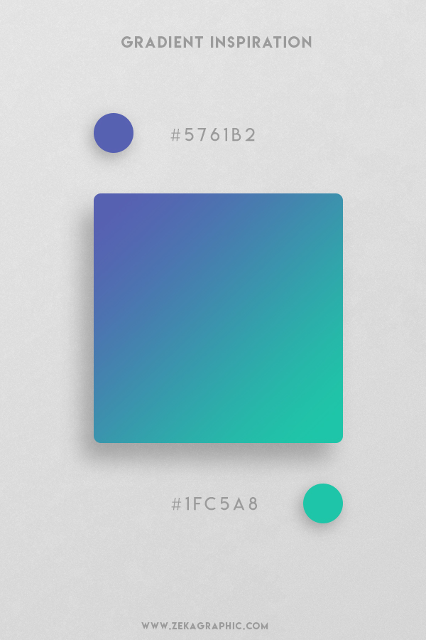 19 Rich Blue Light Sea Green Beautiful Color Gradient Inspiration Design