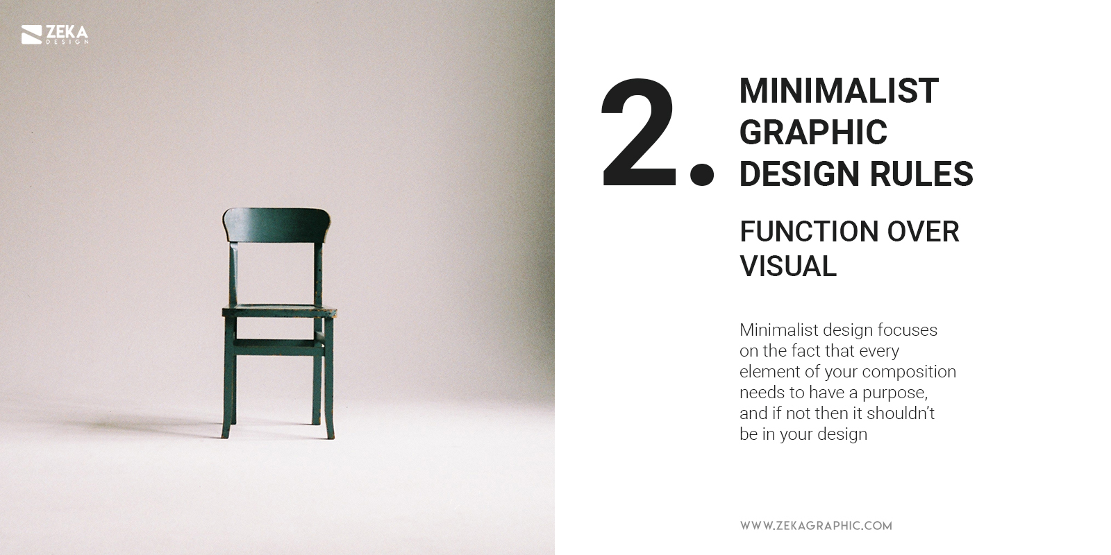 2 Minimalist Graphic Design Rules Function over Visual