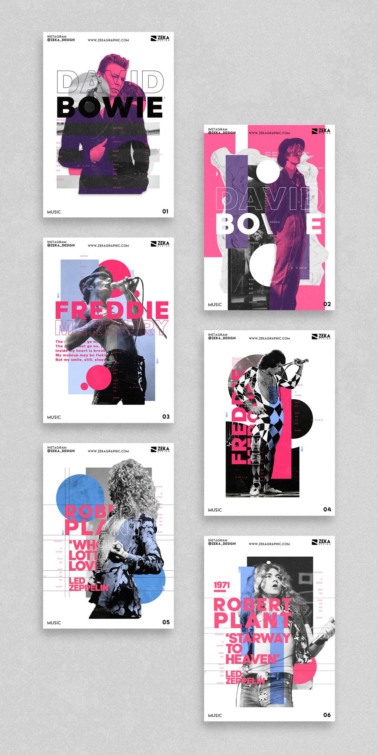 2020 Music 2 Poster Design Collection Zeka Design
