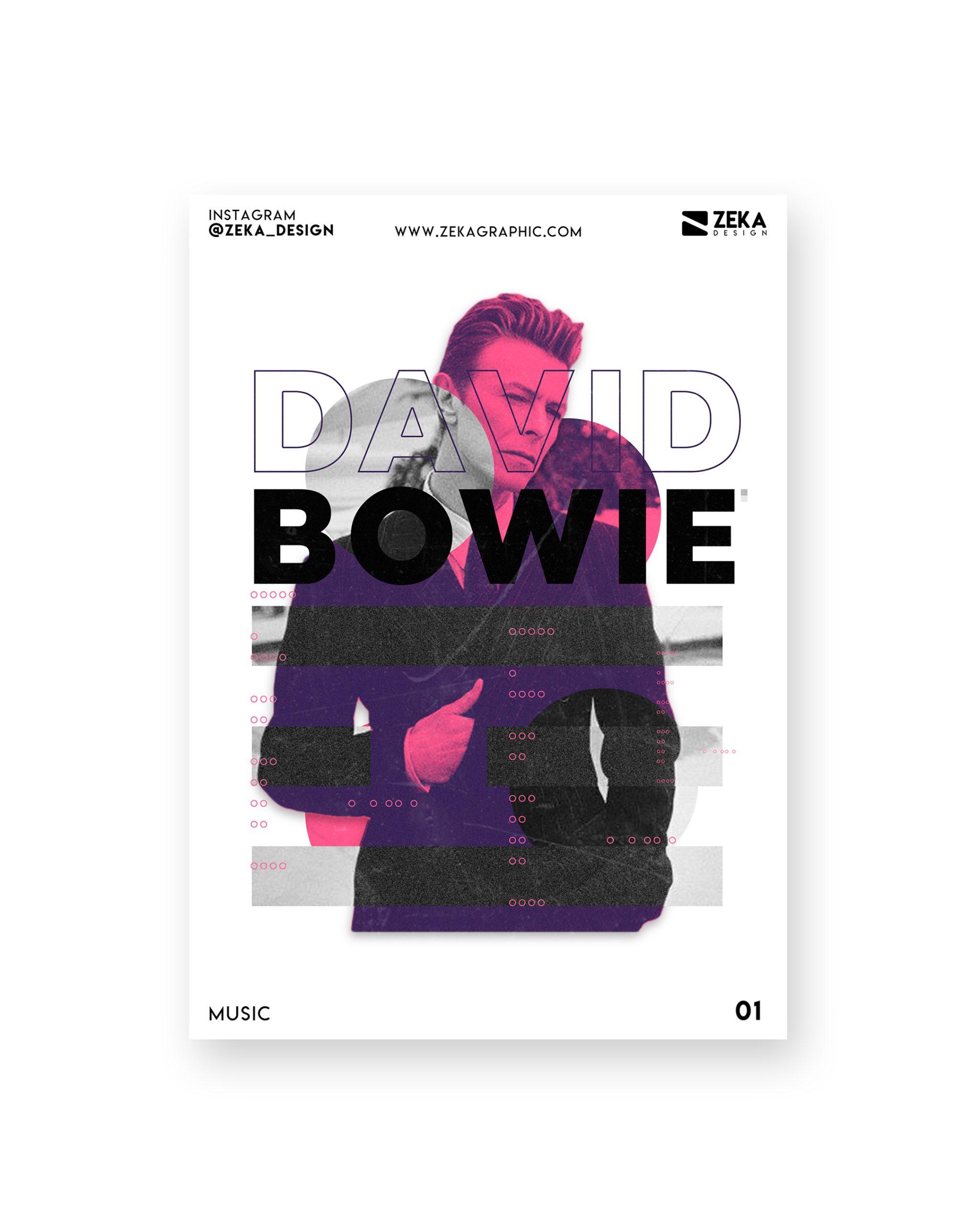 David Bowie Music Poster Design Collection Zeka Design