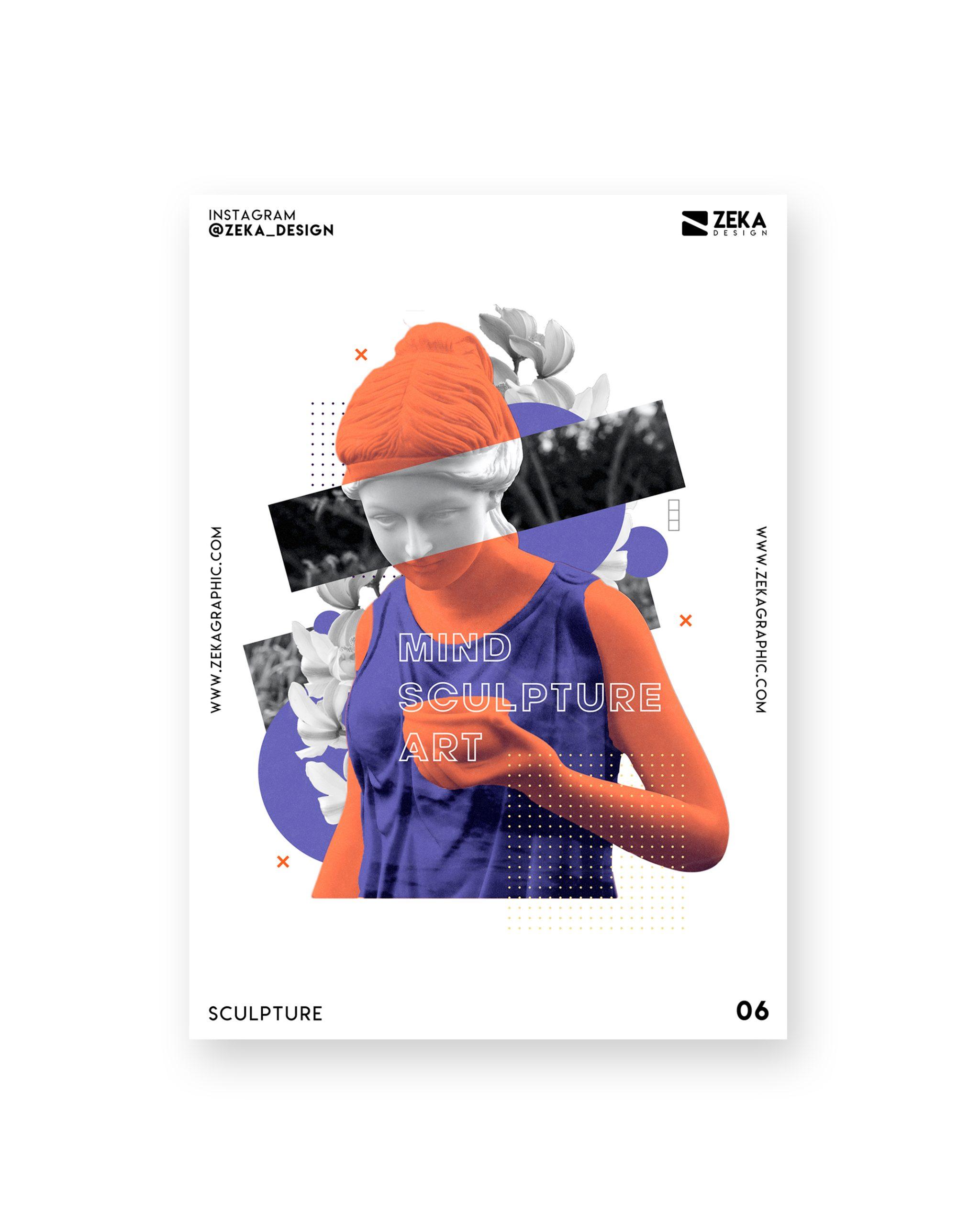 Sculpture Poster Design Collection Zeka Design