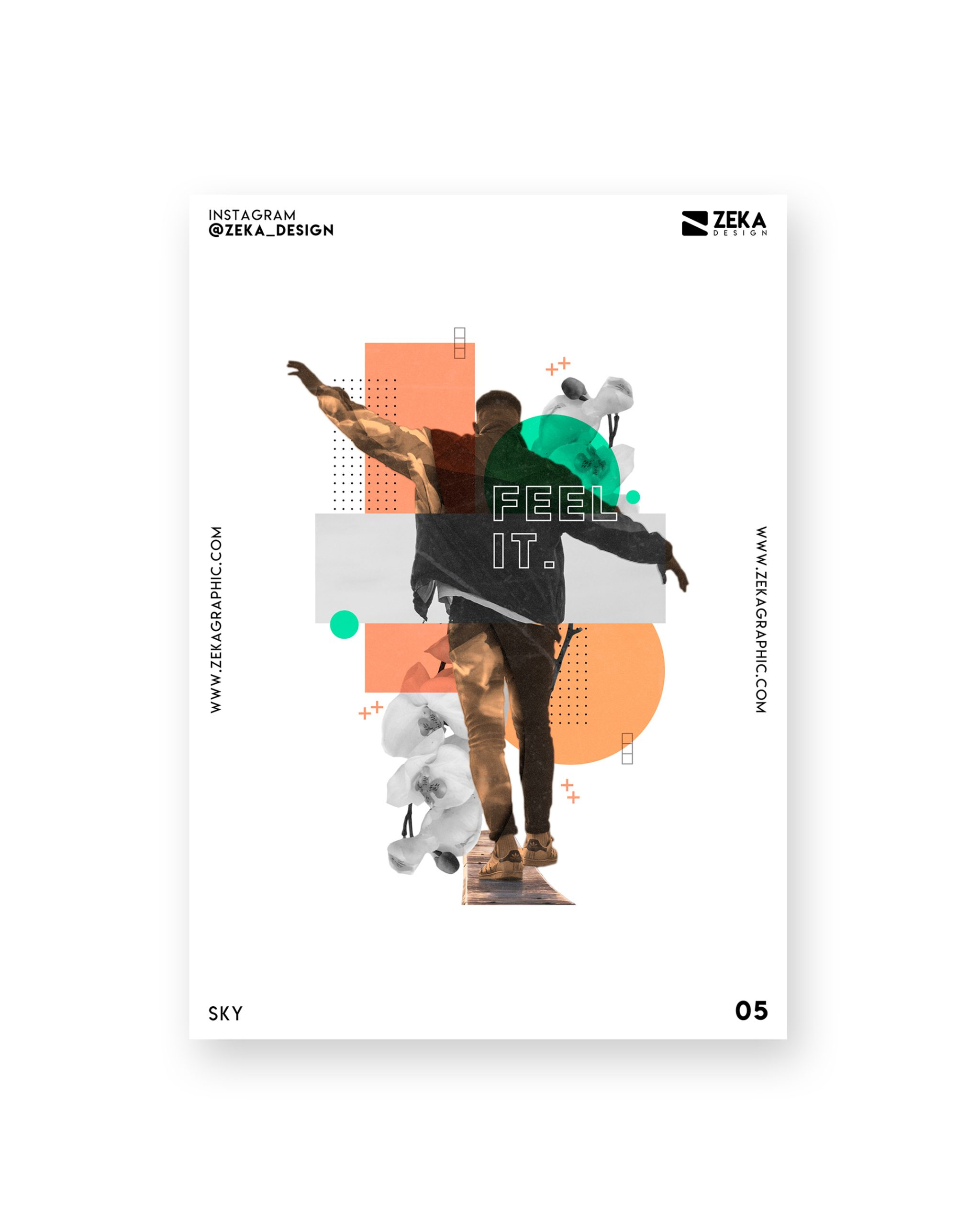 Sky Poster Design Collection Zeka Design