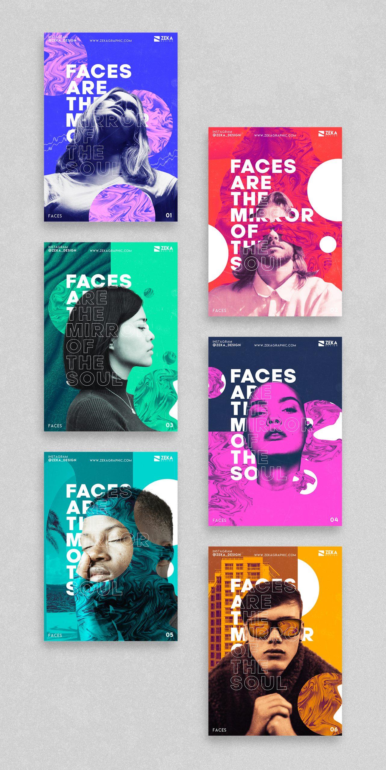2021 Faces Poster Design Inspiration by Zeka Design