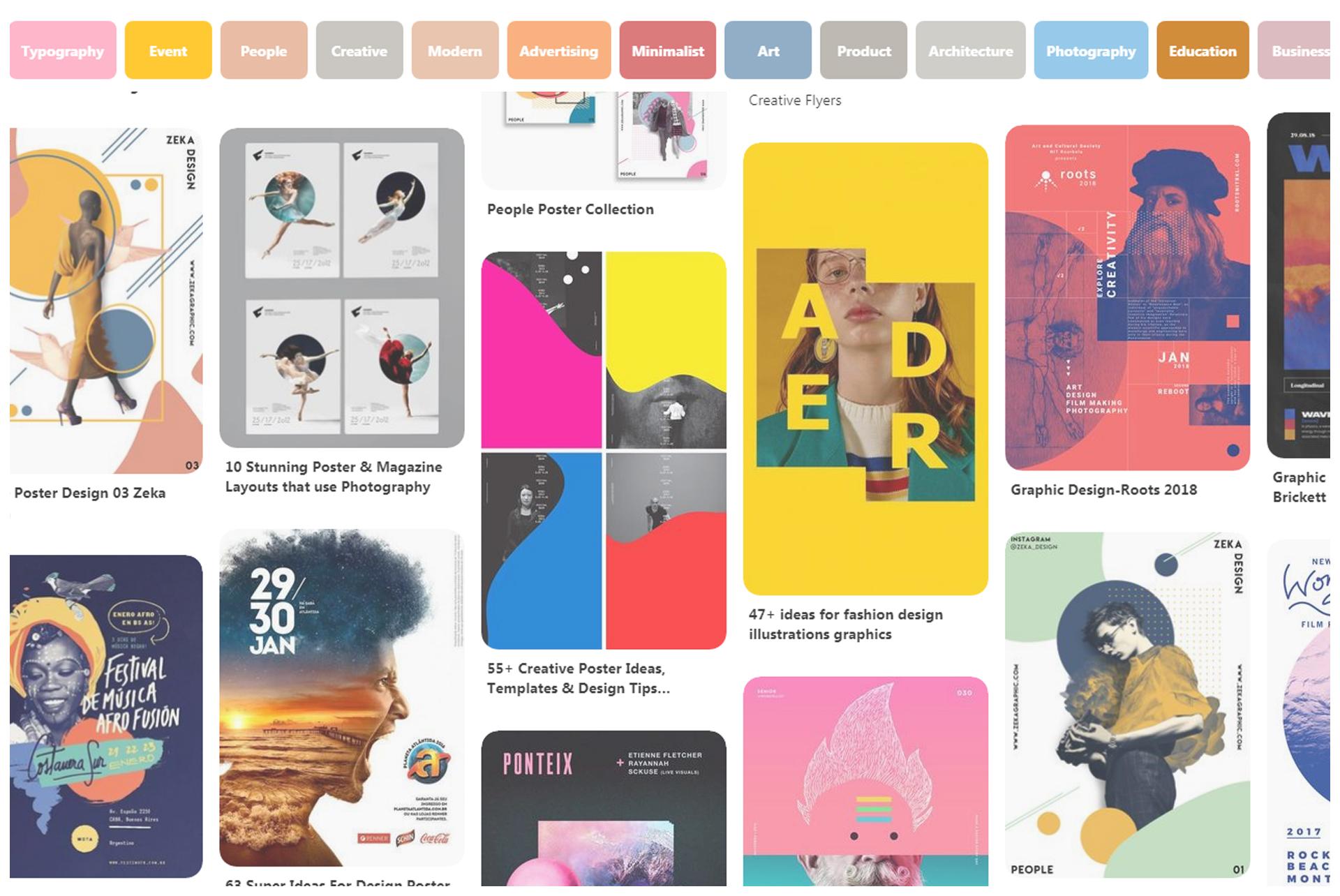 3 Best Website to Graphic Design Inspiration Pinterest