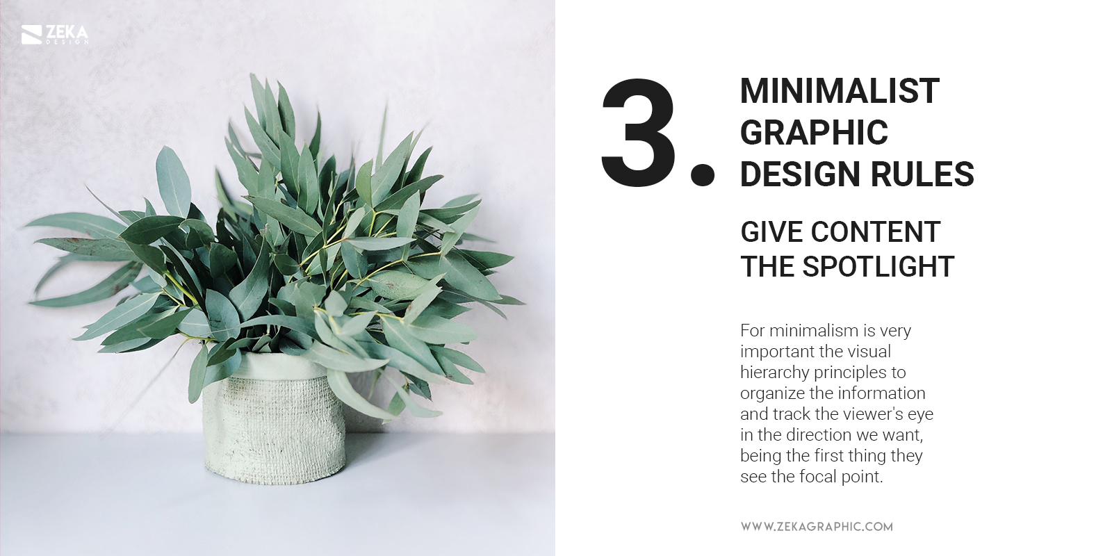 3 Give Content The Spotlight Minimalist Graphic Design