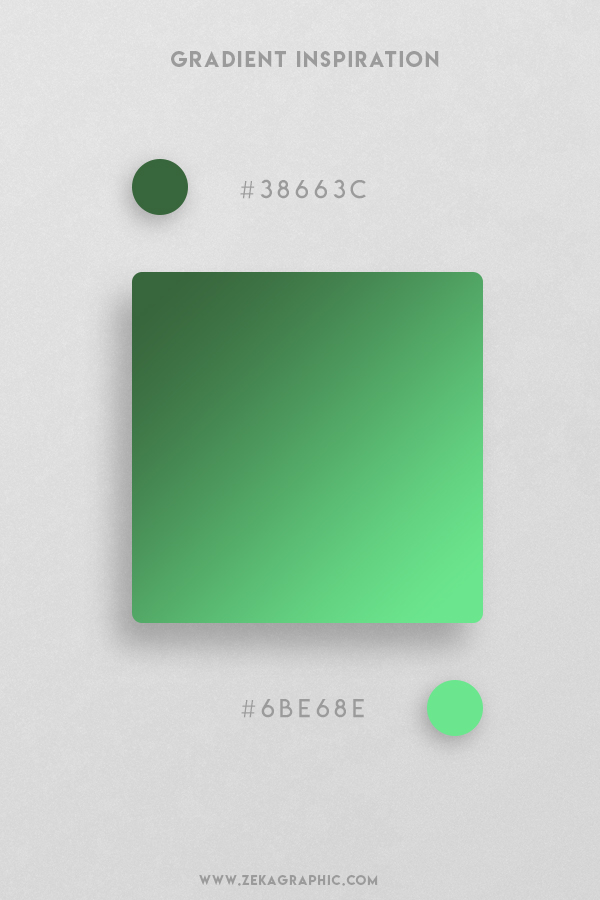 32 Hunter Green Pastel Green Beautiful Color Gradient Inspiration Design