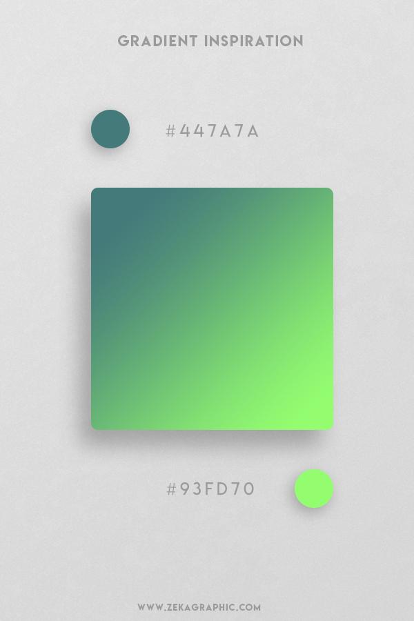 6 Faded Jade Green Beautiful Color Gradient Inspiration Design