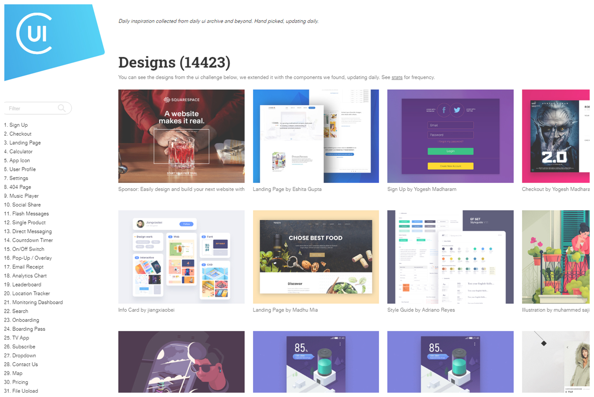8 Best Website to Graphic Design Inspiration collectui
