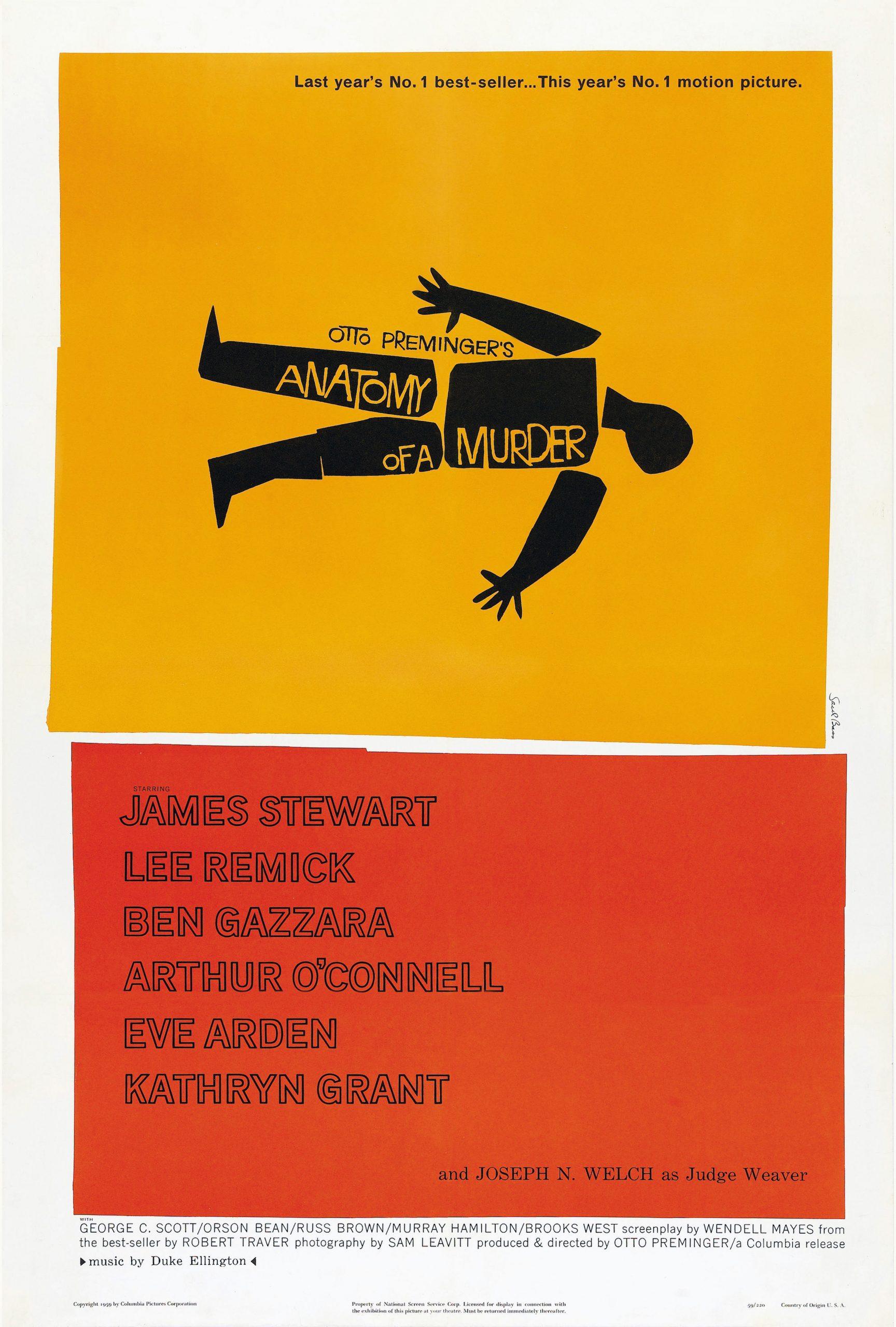 Anatomy of a murder movie poster design