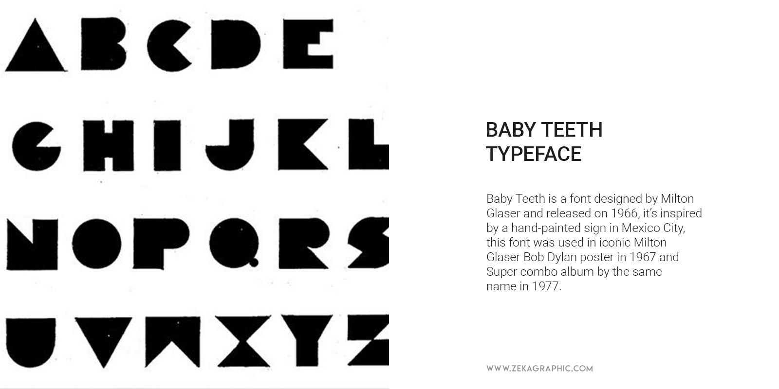 Babyteeth typeface by Milton Glaser Graphic Design History
