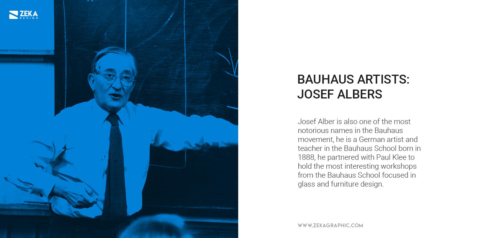 Bauhaus Artist Josef Albers Graphic Design Color Psychology