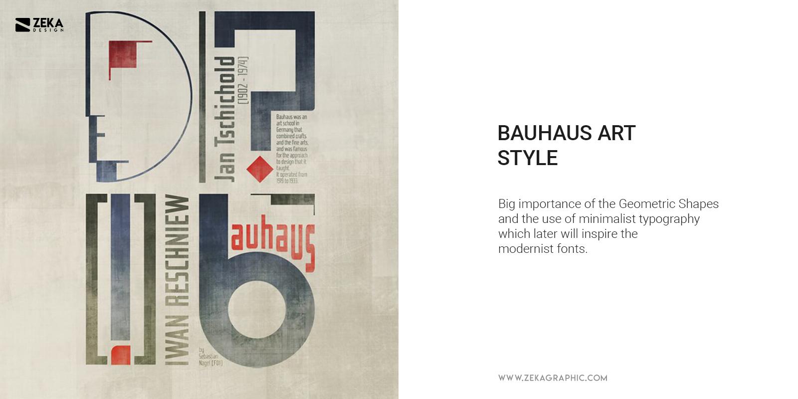 Bauhaus Design Style Geometric Shapes and Minimalist Typography