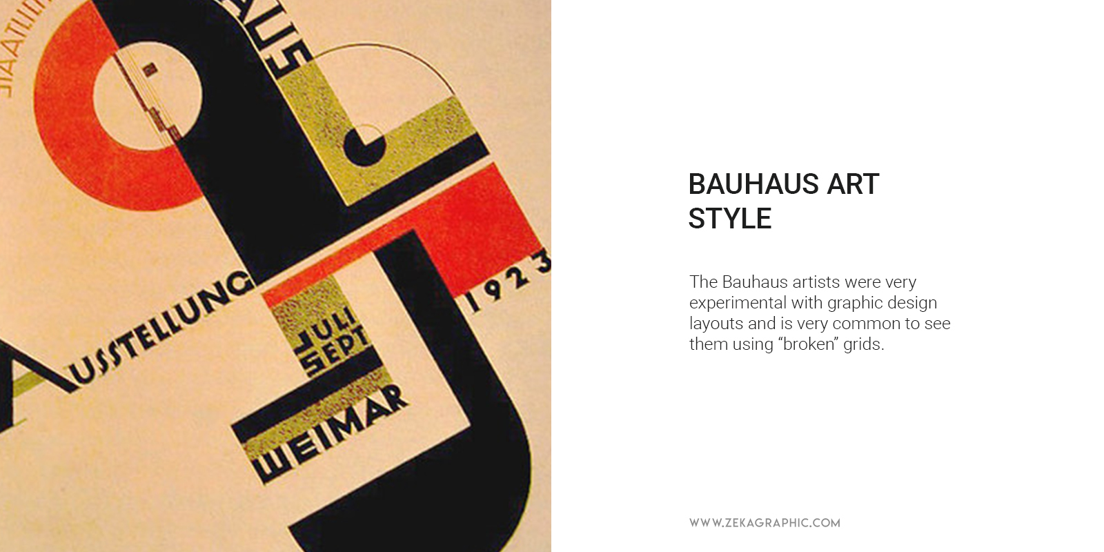 Bauhaus Design Style Using Experimental Grids and Technology