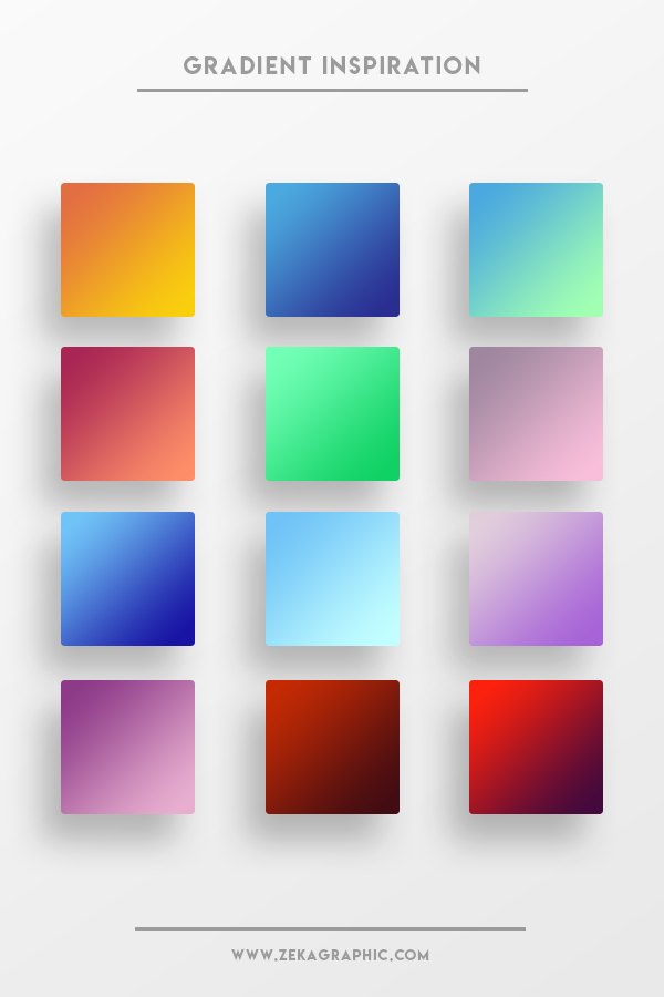 Beautiful Color Gradient Part 4 Design Inspiration