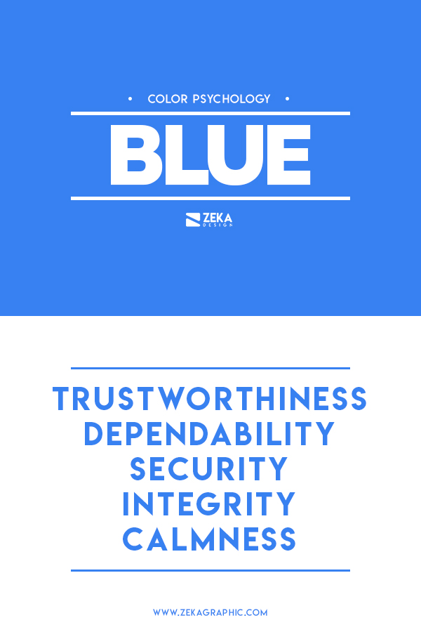 Blue Color Meaning Graphic Design in Color Theory