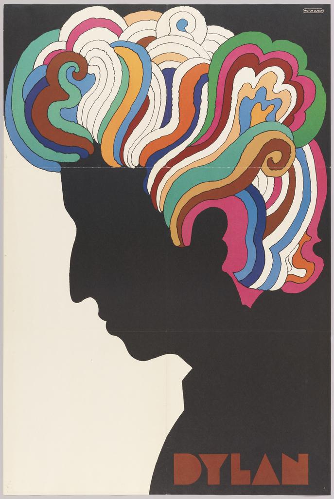 Bob Dylan Poster Design Inspiration by Milton Glaser