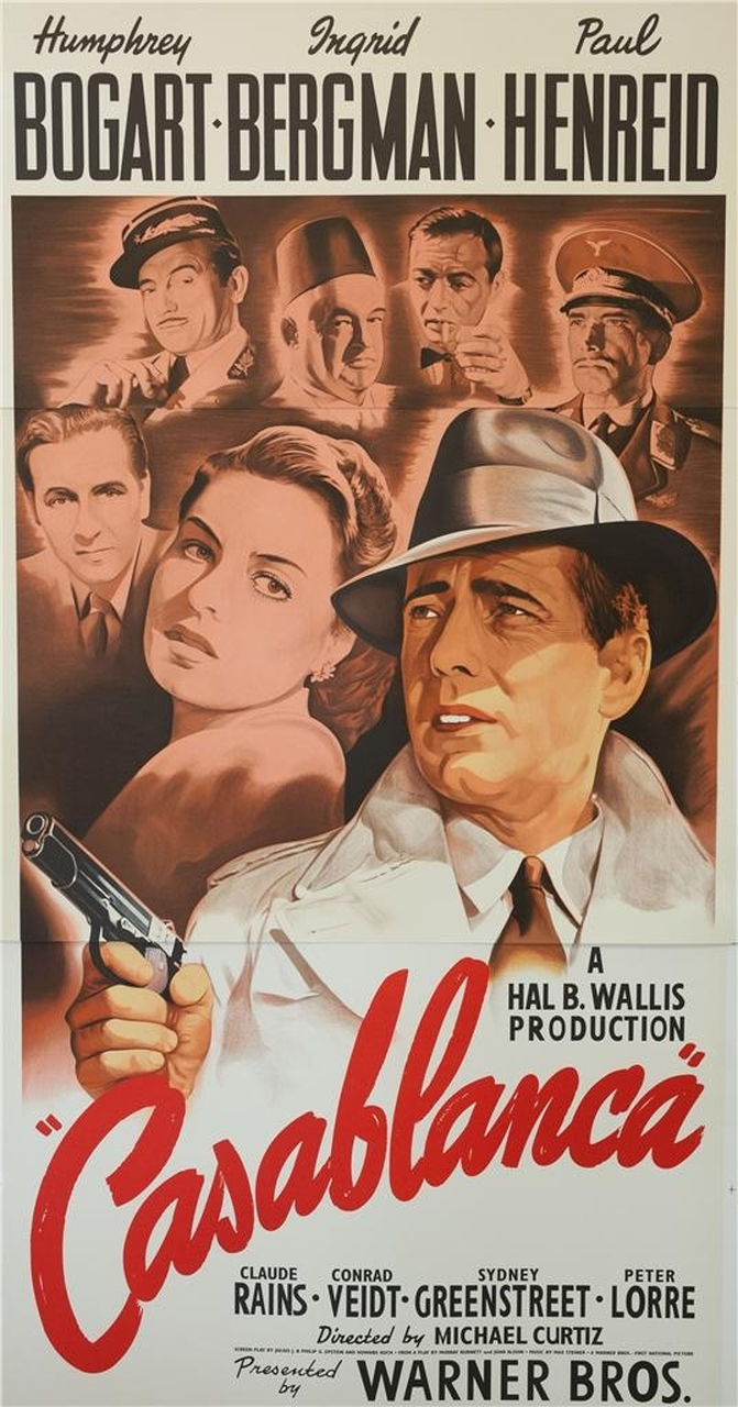 Casablanca Movie Poster Design