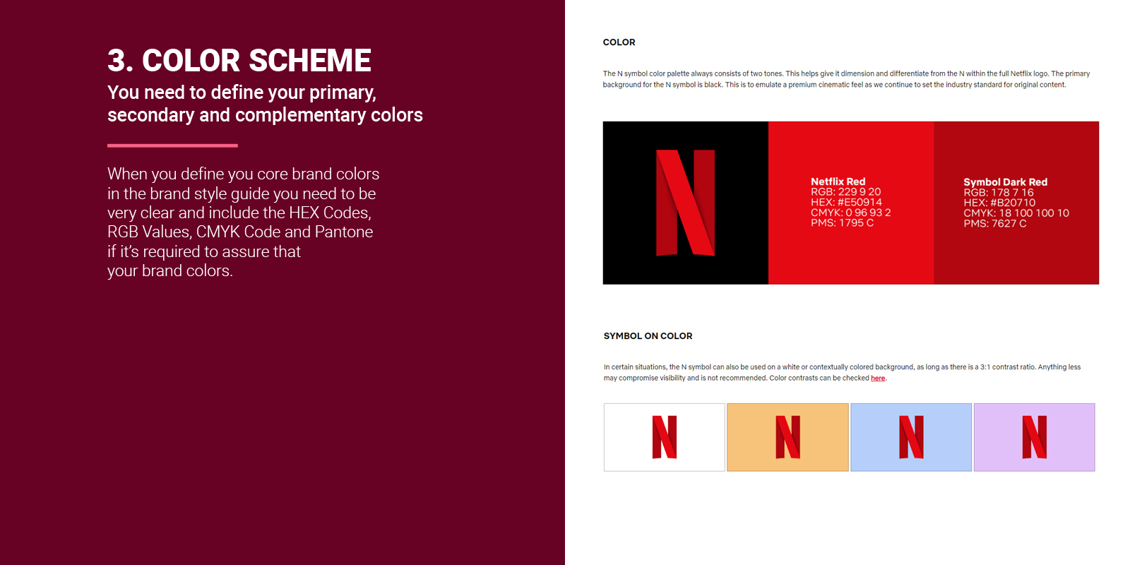 Color Scheme in Brand Style Guide Example