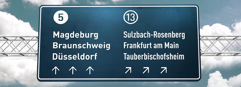 FF Din Font Usage in Germany Road signage