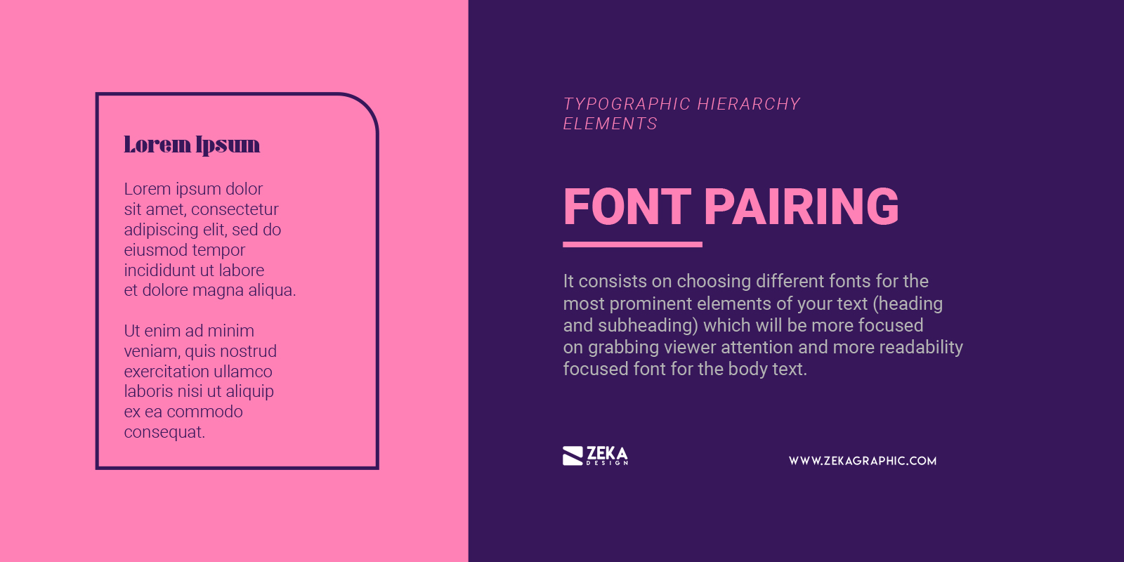 Font Pairing for Typographic Hierarchy in Graphic Design