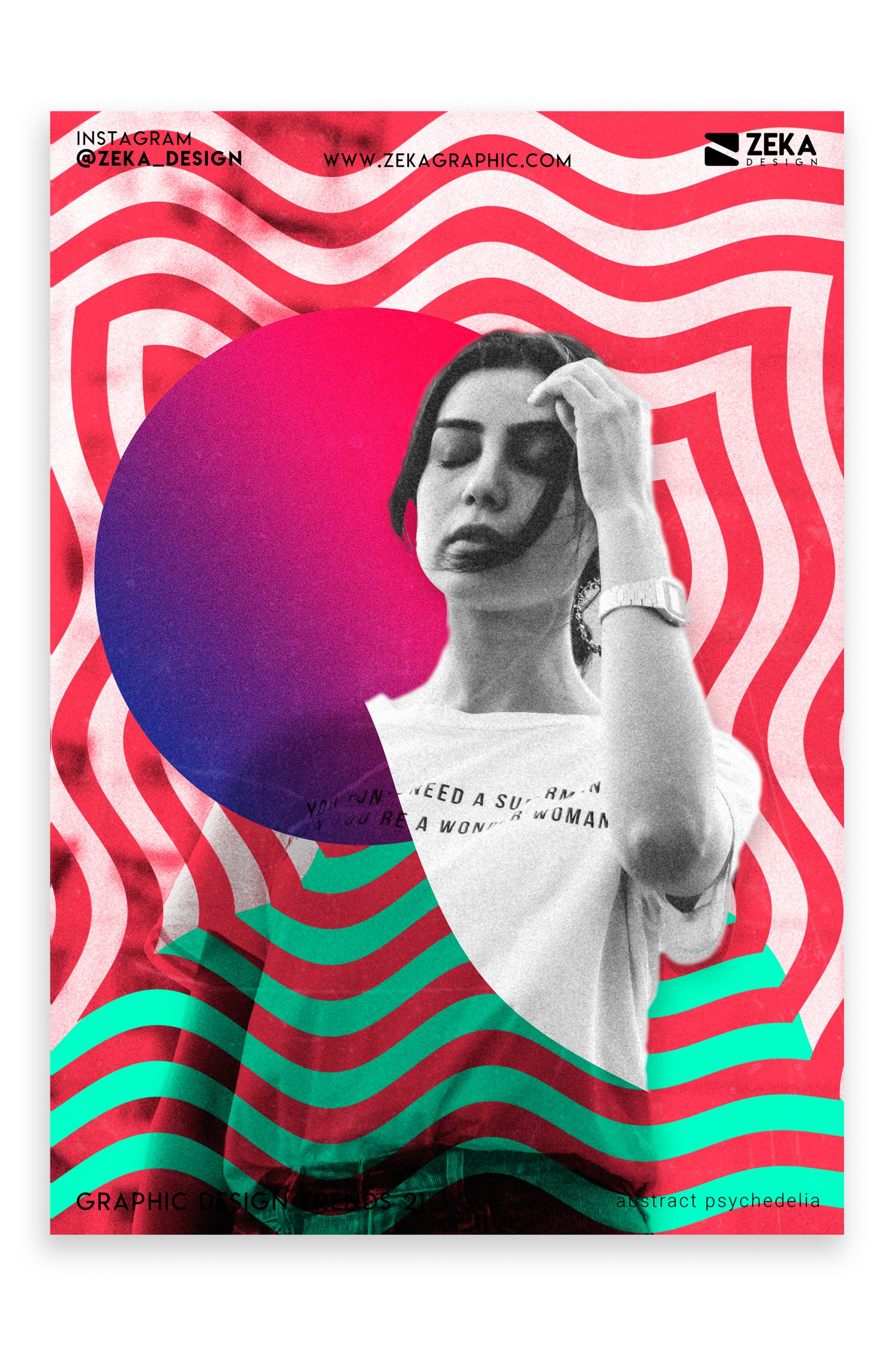 Graphic Design Trends 2021 Abstract Psychedelia Poster