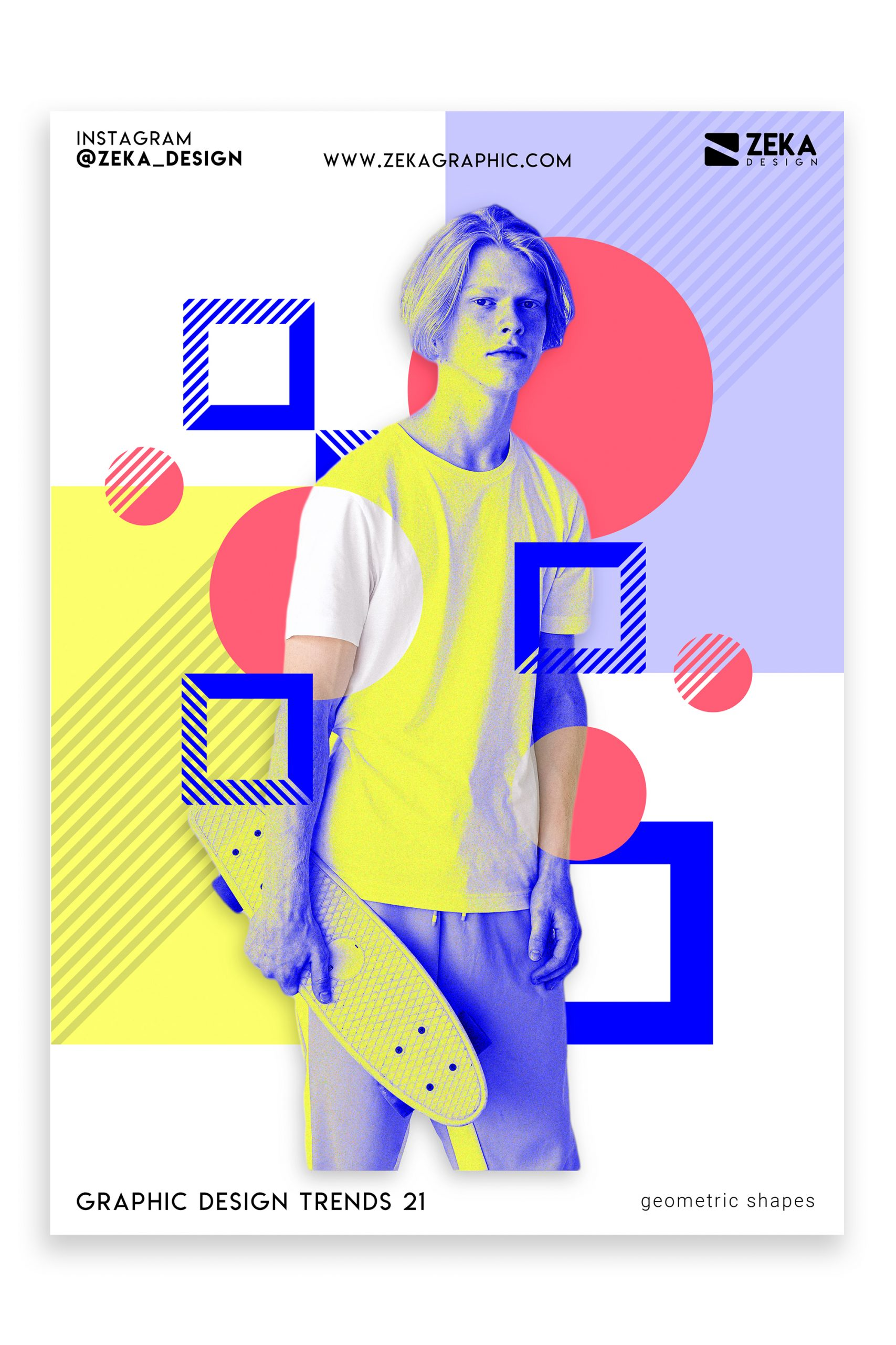 Graphic Design Trends 2021 Geometric Shapes Poster