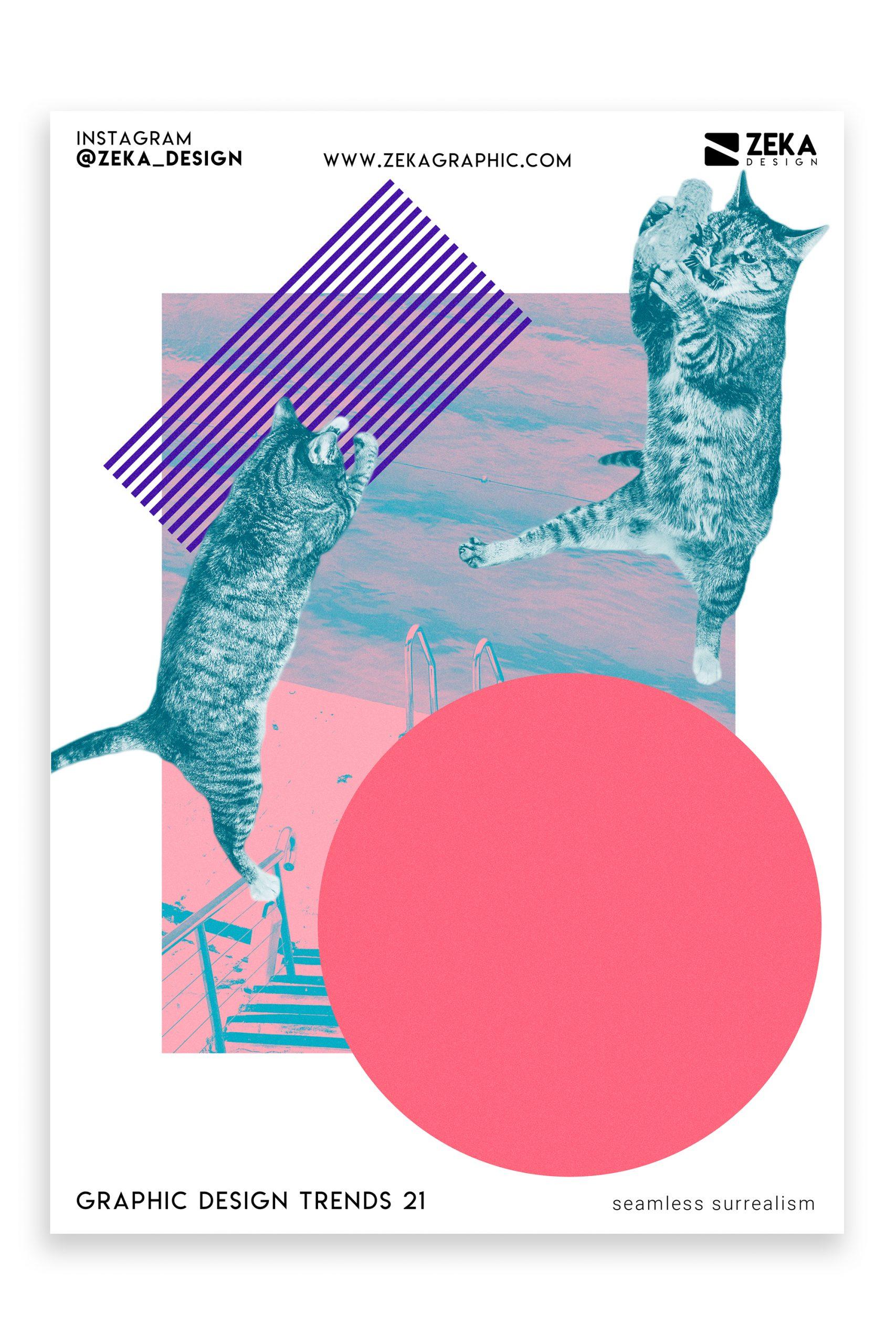 Graphic Design Trends 2021 Surrealism Poster