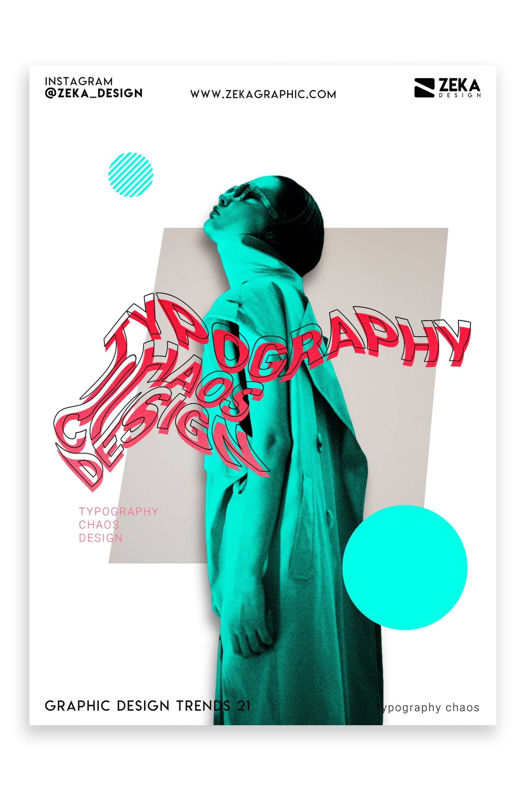Graphic Design Trends 2021 Typography Chaos Poster