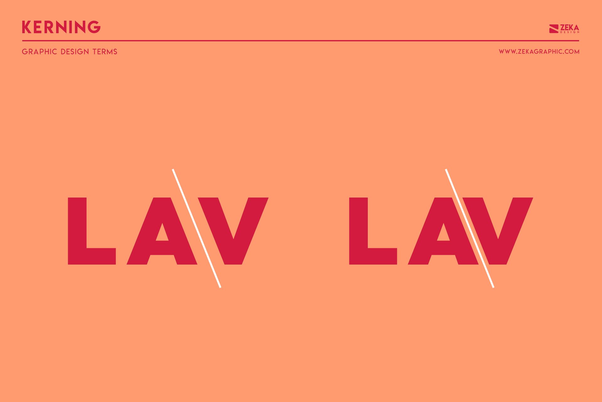 Kerning Typography Graphic Design Terms