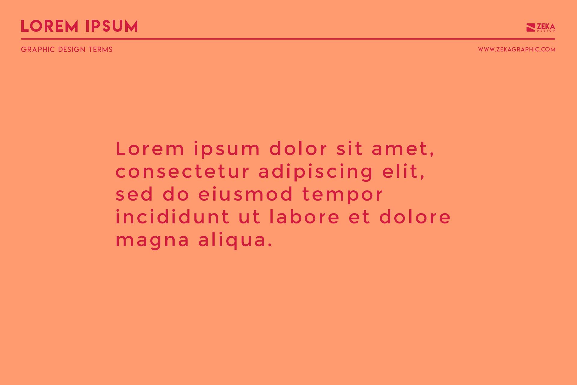 Lorem Ipsum Graphic Design Terms