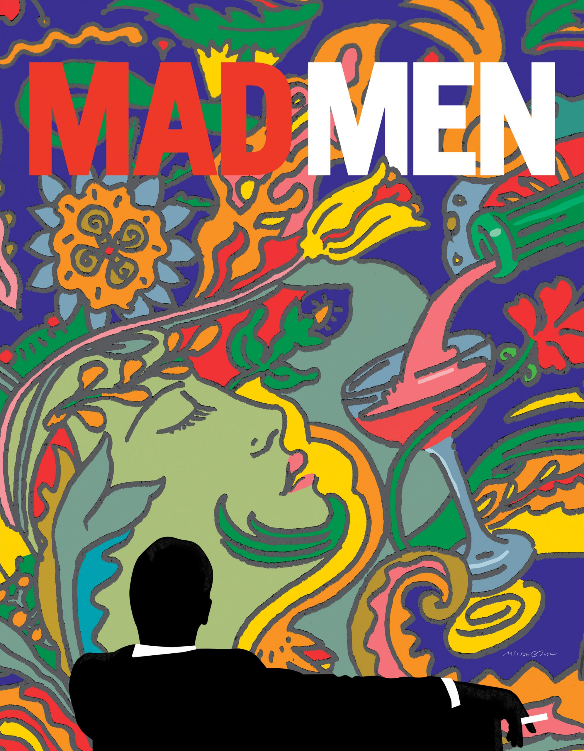 Milton Glaser Mad Men Poster Design Art Nouveau
