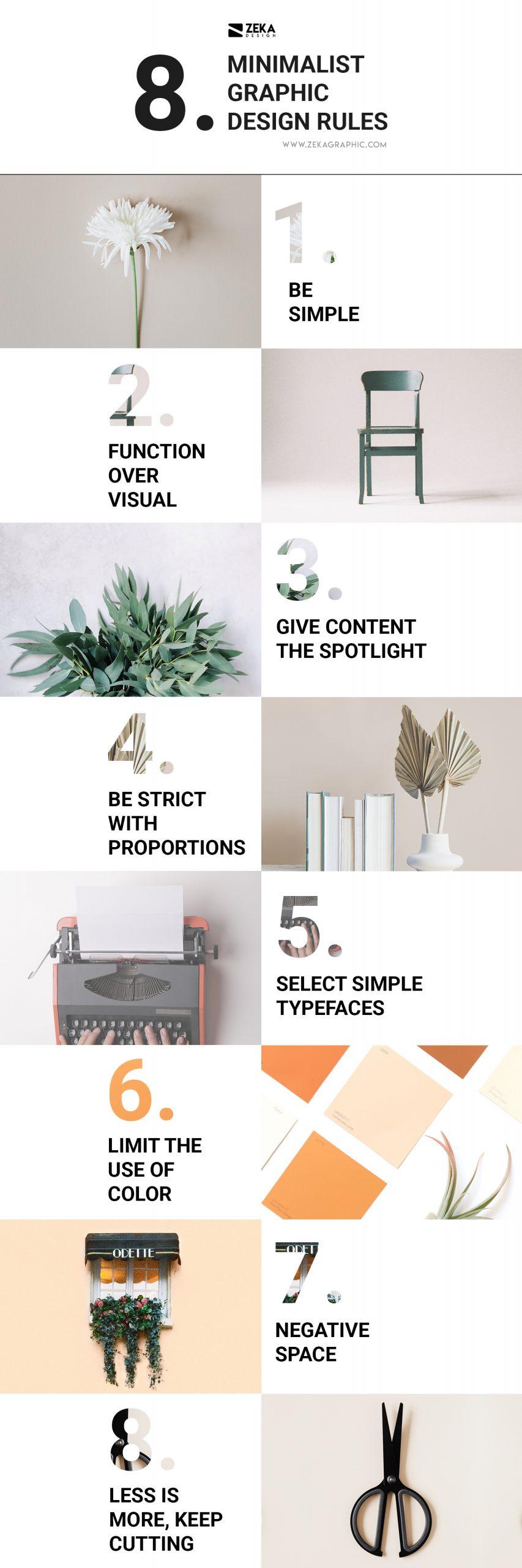 Minimalist Graphic Design Rules Infographic