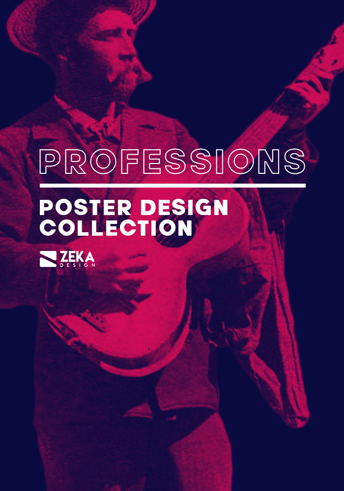 2020 Professions Poster Design Collection Zeka Design