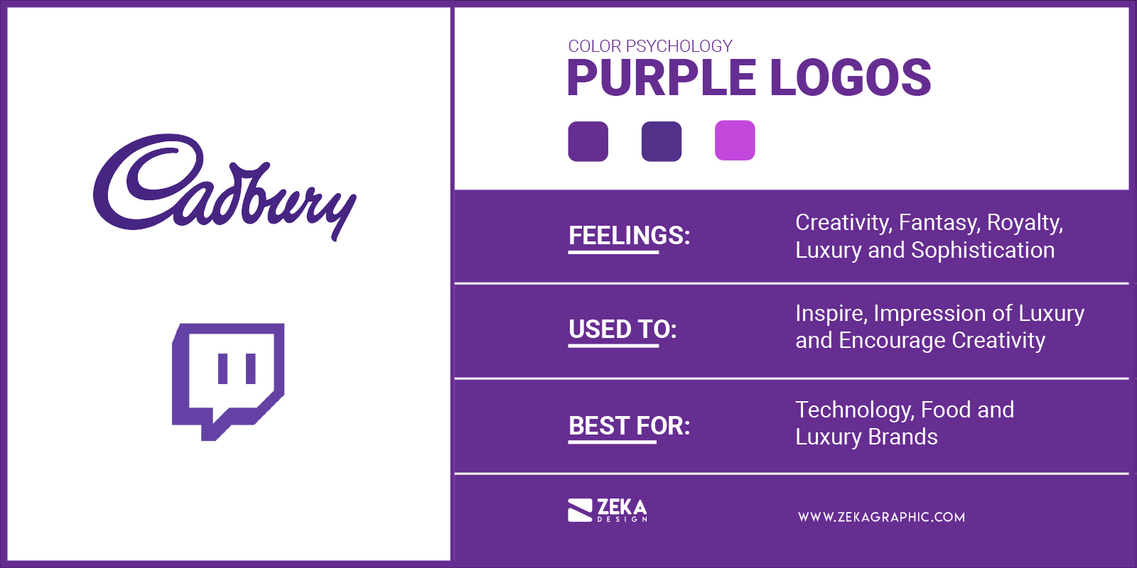 Purple Logos Meaning in Graphic Design