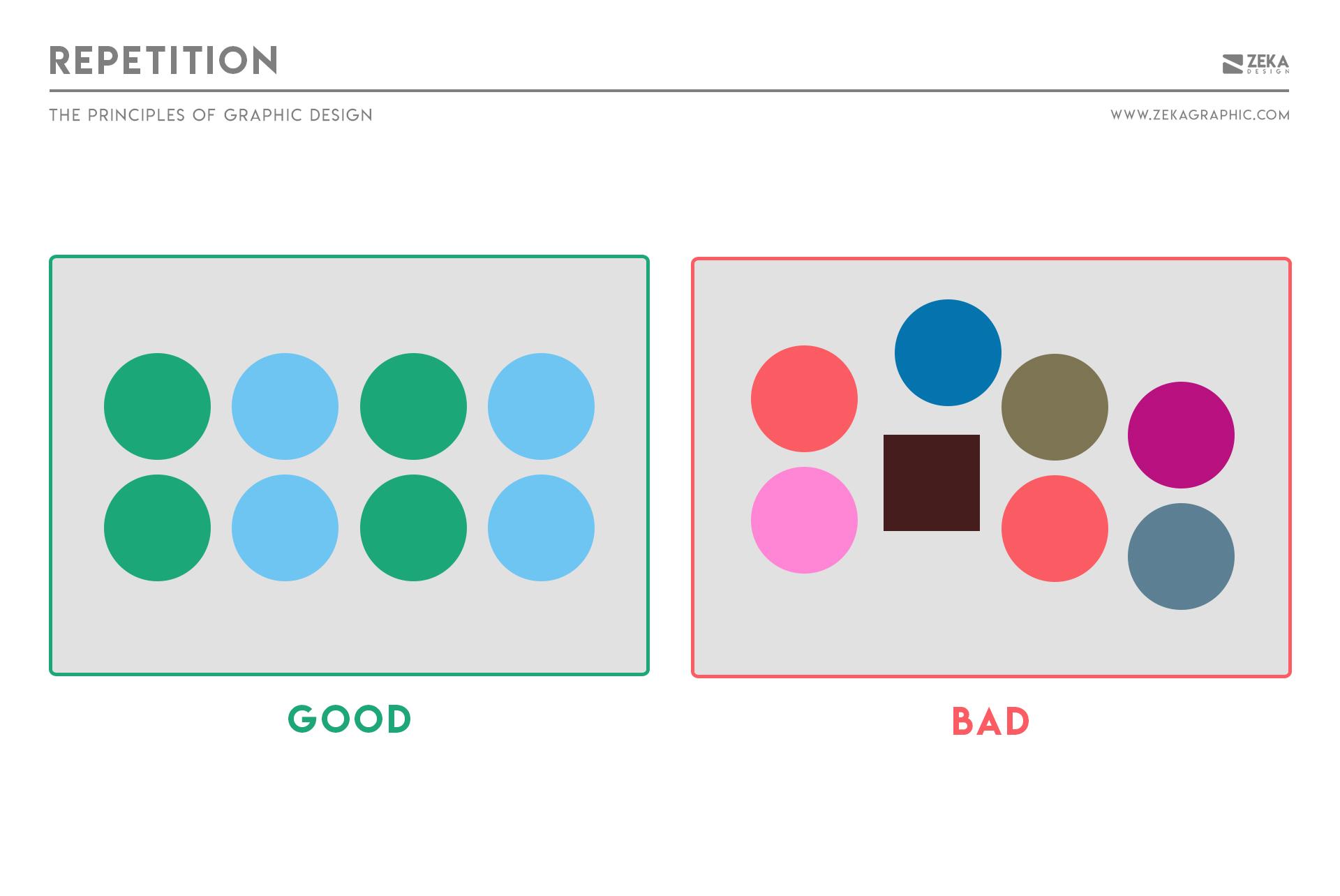 Repetition Principle in Graphic Design