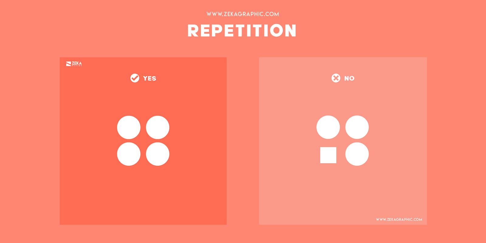 Repetition Visual Hierarchy Principles in Graphic Design