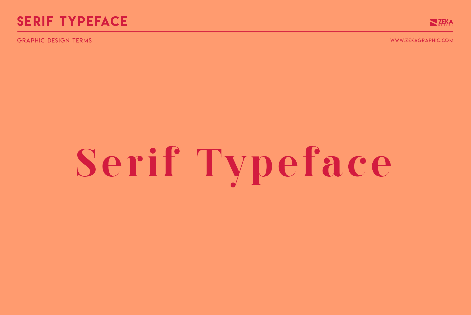 Serif Typeface Graphic Design Terms about Typography