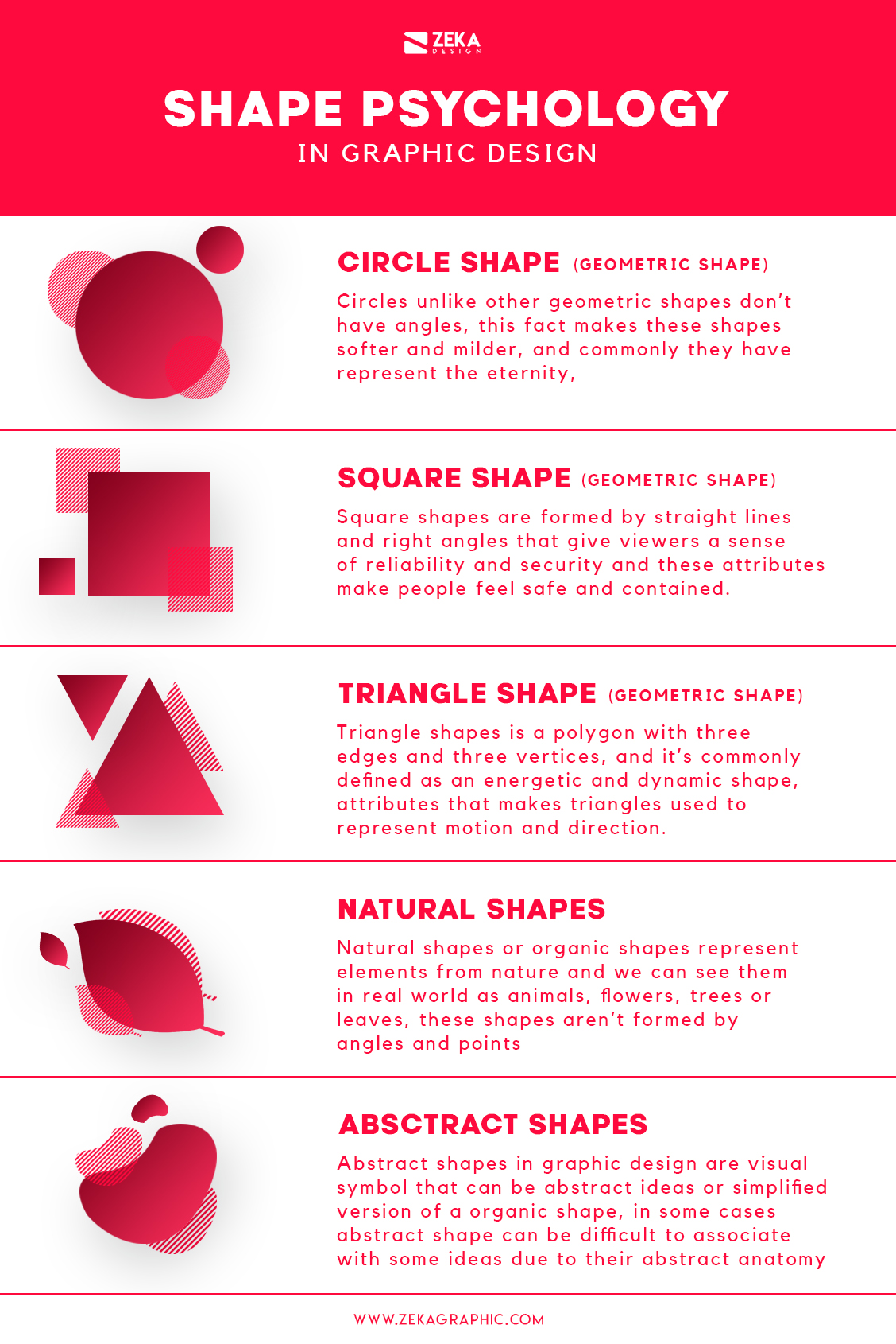 Shape Psychology Meaning in Graphic Design Infographic Blog
