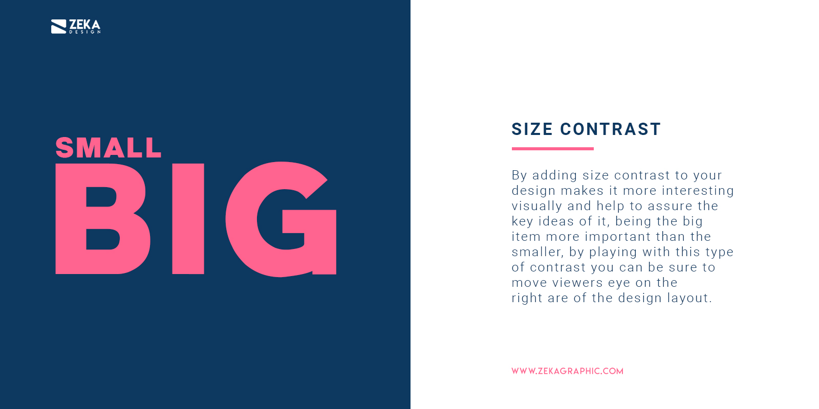 How To Use Size Contrast in Graphic Design