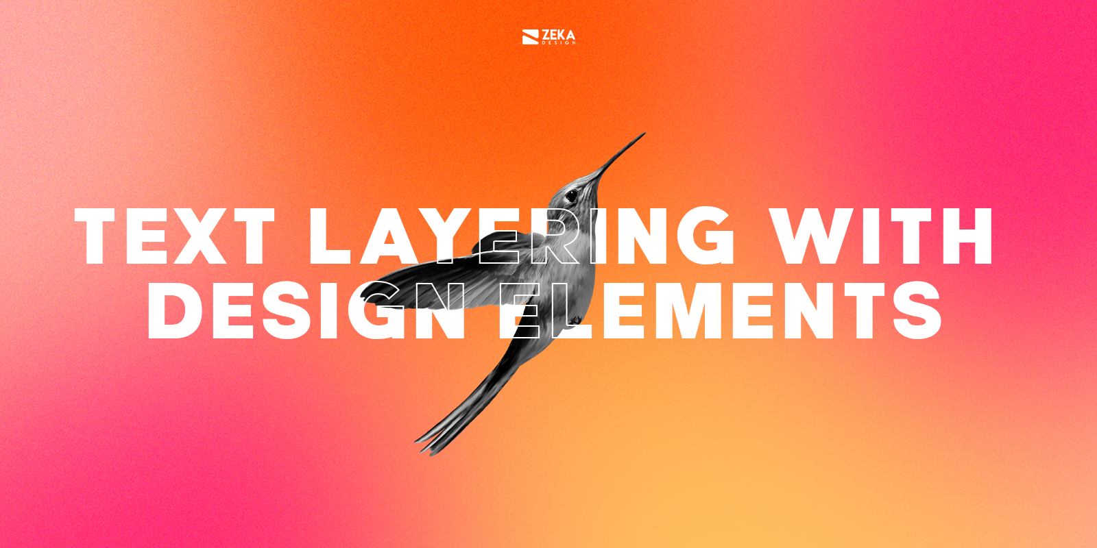 Text Layering With Design Elements Typography Design Trends 2021