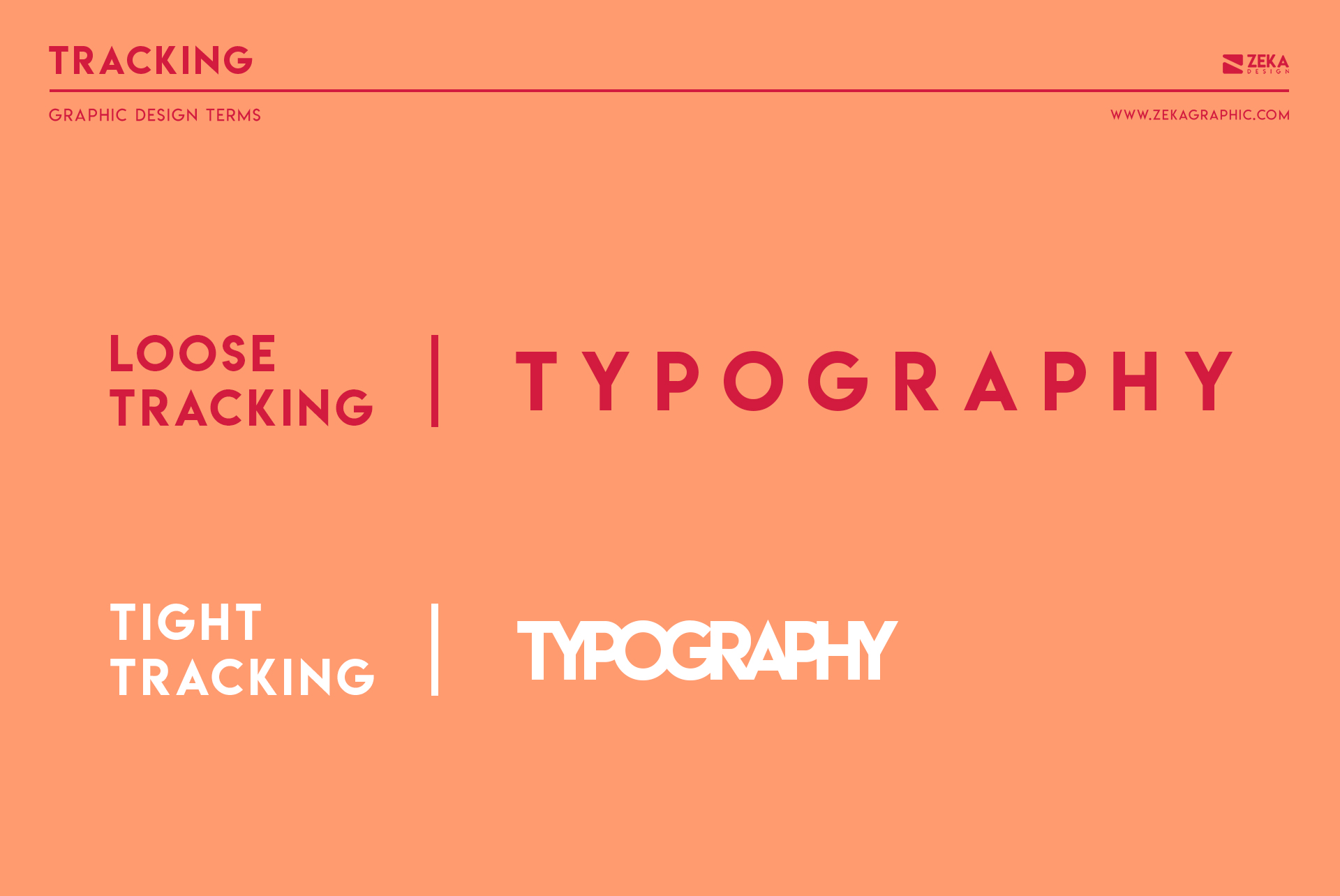 Tracking Typography Graphic Design Terms