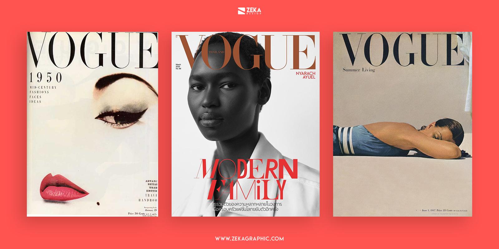 Vogue Fashion Cover Bodoni Typeface