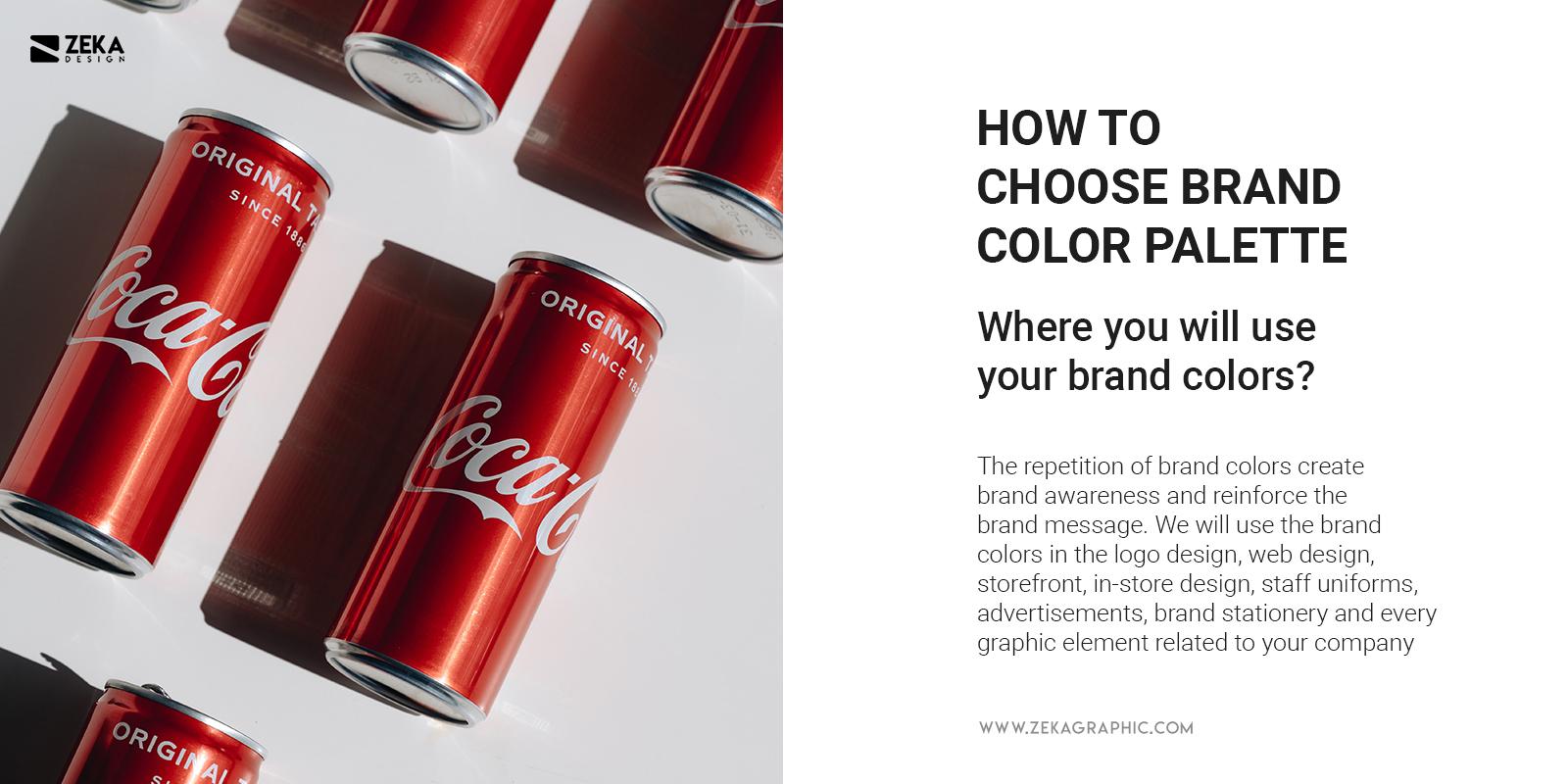 Where Use Brand Colors Graphic Design Guide 2