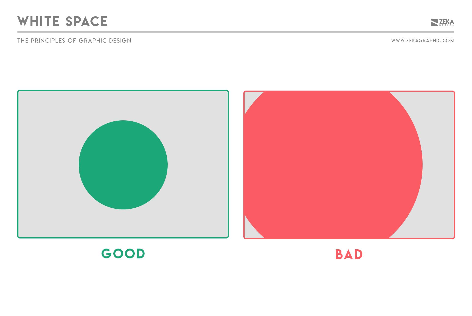 White Space Principle in Graphic Design