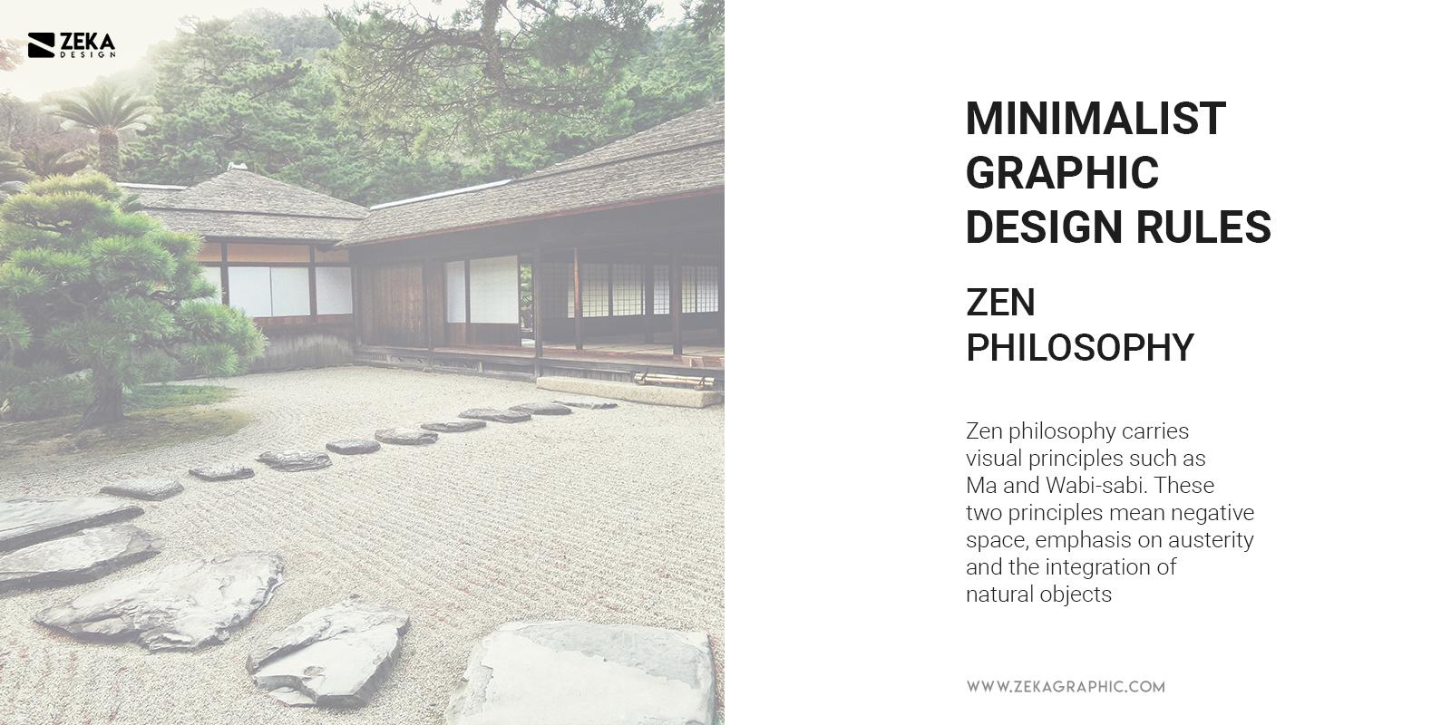 Zen Philosophy in Minimalist Graphic Design