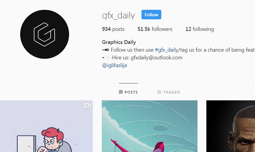 Best Instagram Accounts to Follow on Instagram For Inspiration gfx_daily