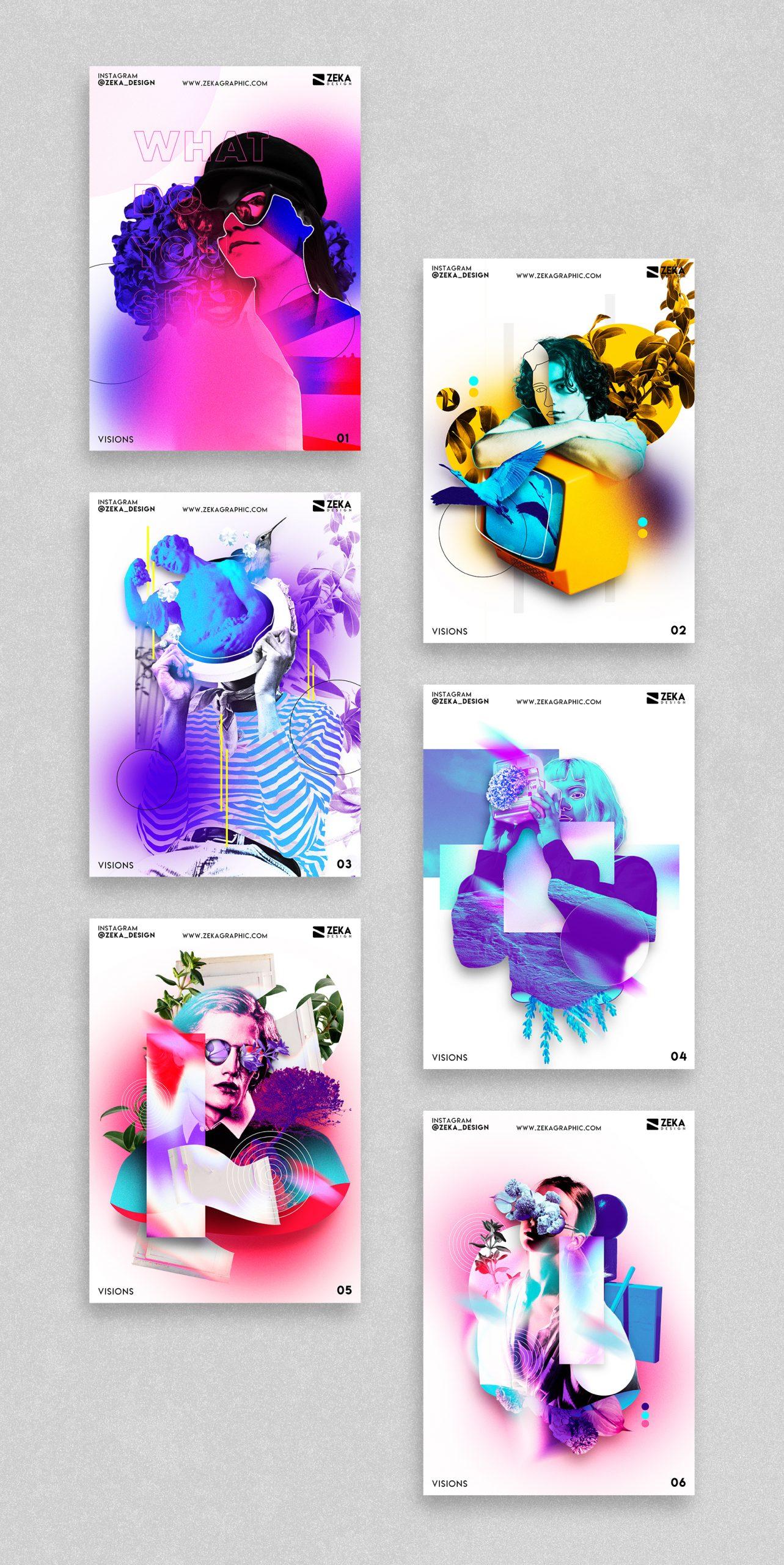 2021 Visions Poster Design Inspiration by Zeka Design