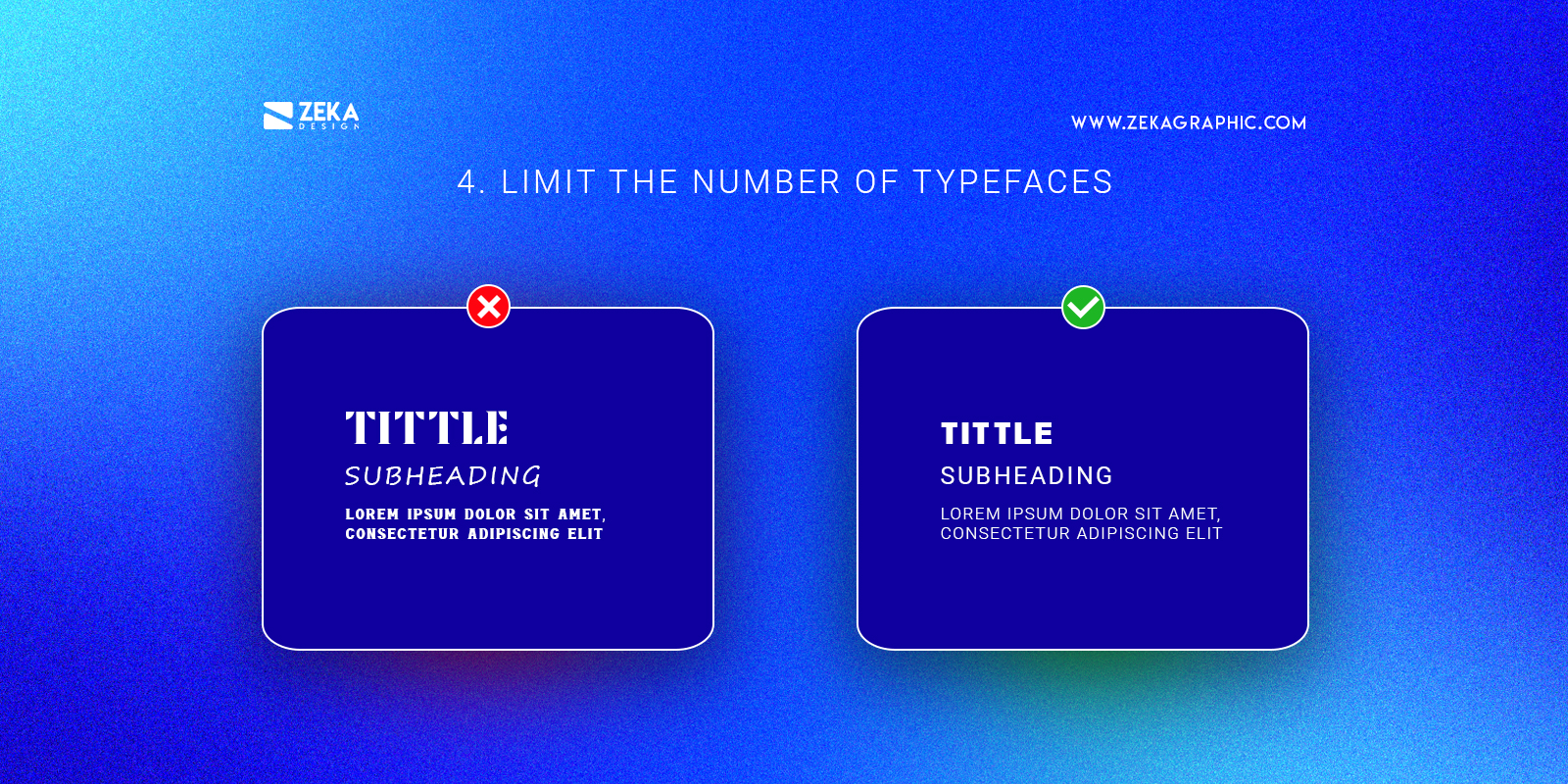 Limit The Number of Typefaces Graphic Design Tip